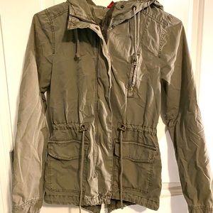 H&M olive green utility jacket